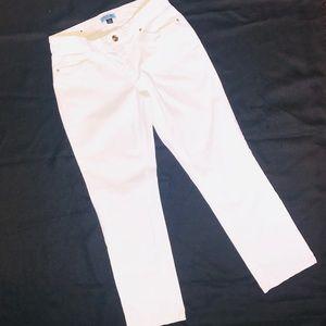 Cynthia Rowley Brushed Twill White Pants